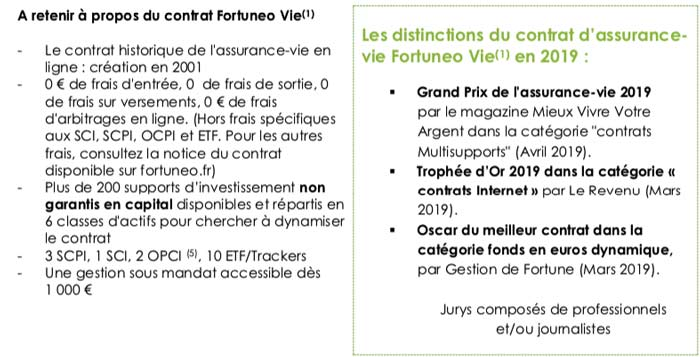 fortuneo vie trophees